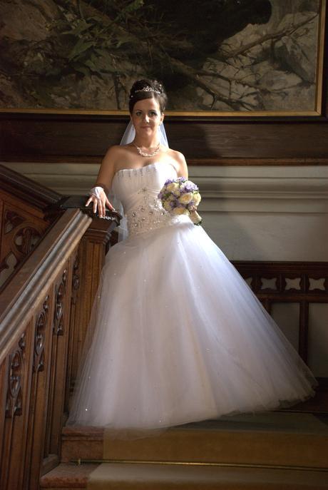 tylové svadobné šaty, 38