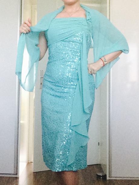tyrkysové šaty č. 34-36, 36