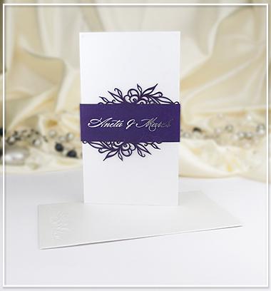 Bílo fialové SO z perleťového papíru - G971,