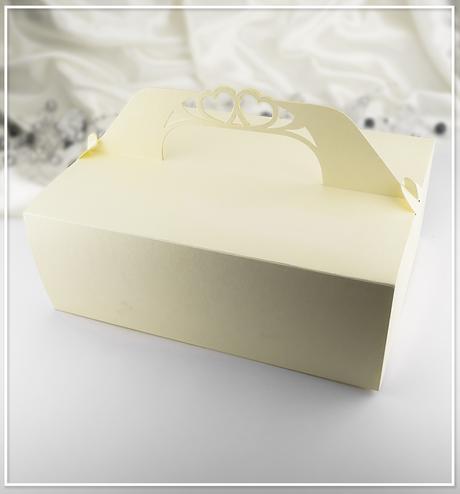 Perleťově zlatá svatební krabička K503,
