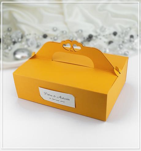 Svatební krabička na výslužku K104,
