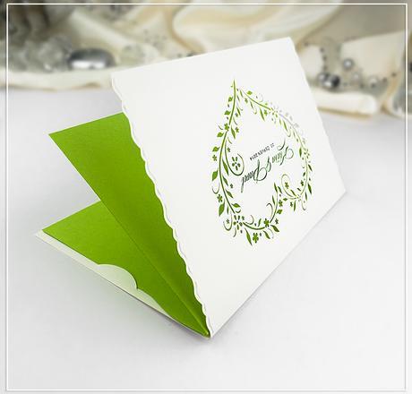 Svatební oznámení s motivem kytiček - G982,