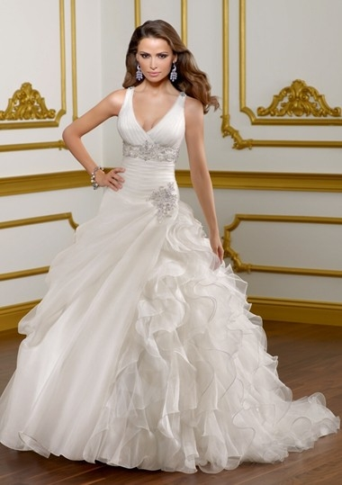 svatební šaty s ramínky, 44