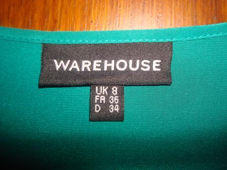 Hodvábne volánikové šaty zn.Warehouse, 36
