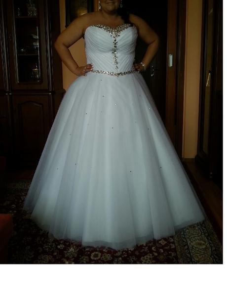 Nepoškodené svadobné šaty veľkosť 42 - 50, 44