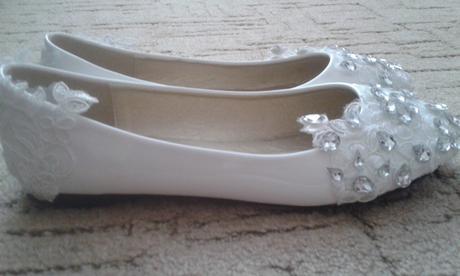 Biele balerínky s kamienkami, 41