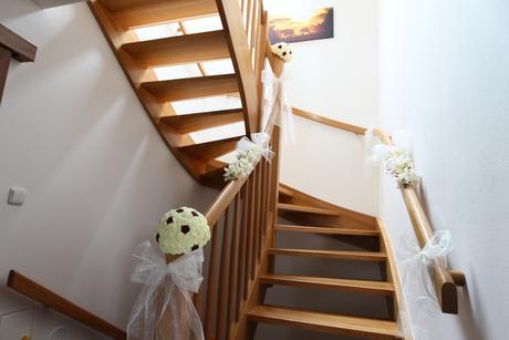 Pologule na svadobnú výzdobu,