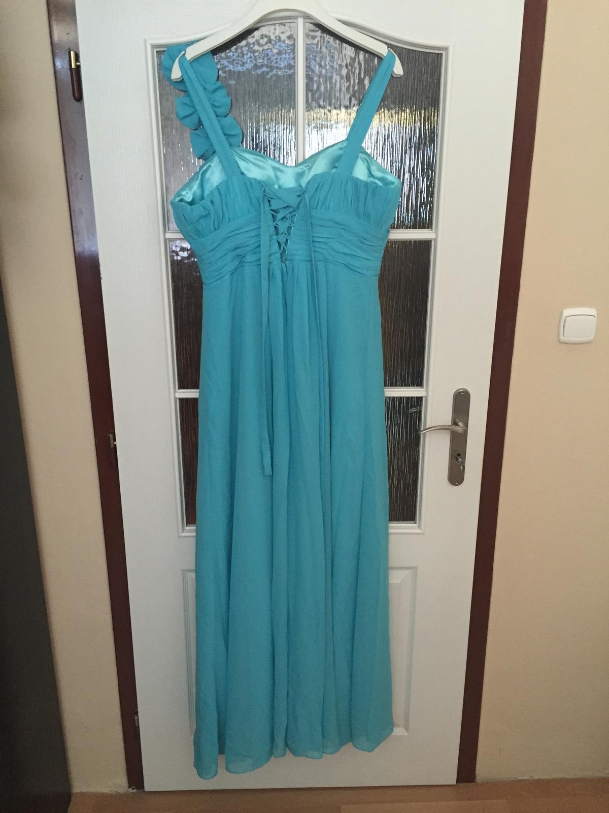 Tyrkysové společenské šaty 35c1e5bf2c