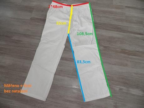 bílé kalhoty zn.Zara, 48