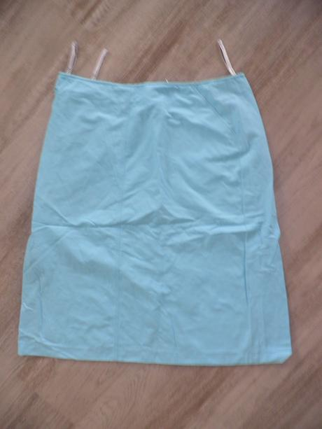 tyrkysová sukně s kapsami, 44