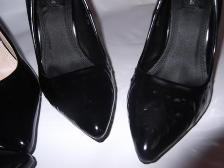 nenosené čierne lesklé, 36