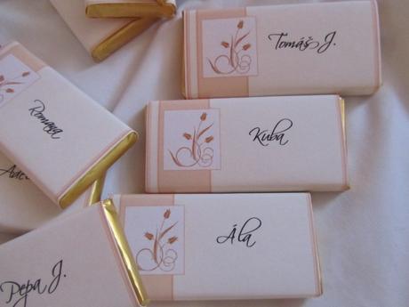 čokoládové svatební jmenovky- lososovo-smetanové 1,