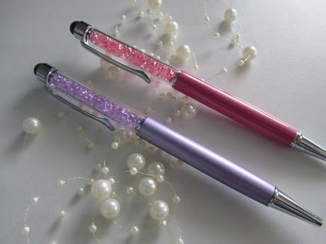 luxusní propiska s barevnými krystaly 2v1,