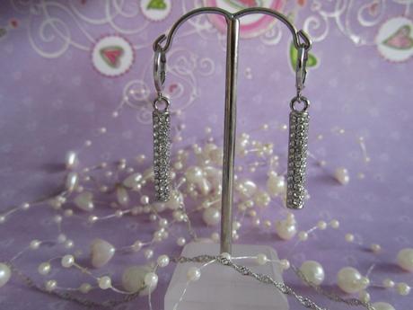 náušnice s náhrdelníkem-stříbro se zirkony,