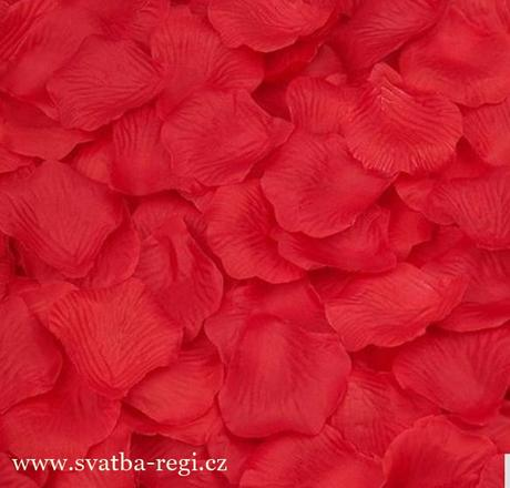 plátky květů červené-250ks,