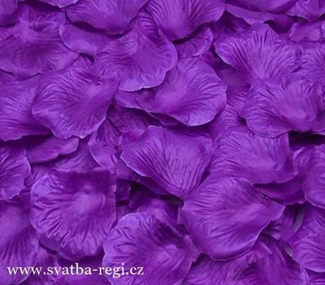 Plátky květů fialové-250ks,