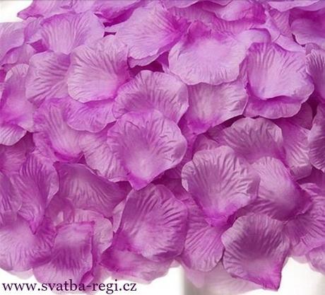plátky květů lila-250ks,