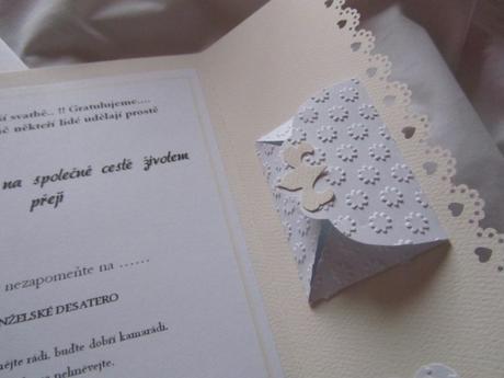 Svatební blahopřání- Srdíčka- Ivory, champagne 1.,