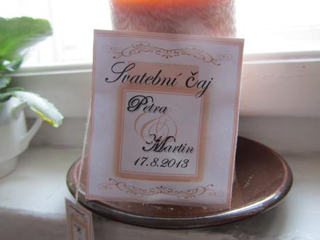 svatební čaj, dle vašeho přání,