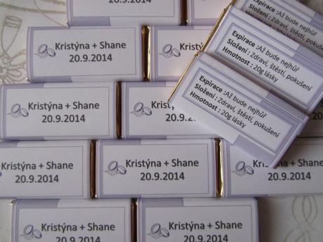 svatební jmenovky čokoládové LILA-prstýnky,