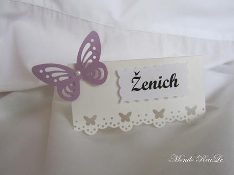 svatební jmenovky dle Vašeho přání- butterfly,