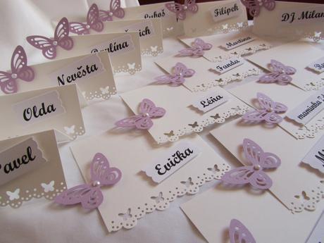 svatební jmenovky na přání- butterfly,