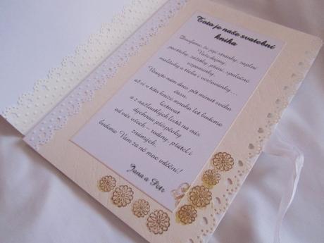 svatební kniha hostů- butterfly Ivory, champagne,