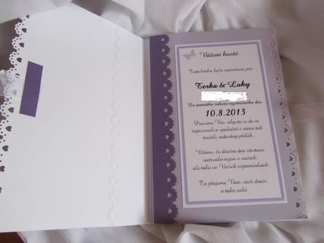 svatební kniha hostů- butterfly lila,