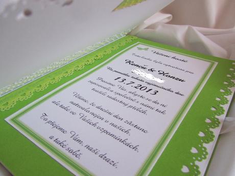 svatební kniha hostů- butterfly zelená,
