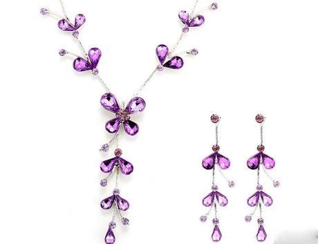 svatební luxusní šperk LILA náhrdelník+náušnice,