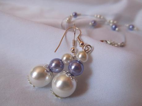 Svatební perličkový set- lila,