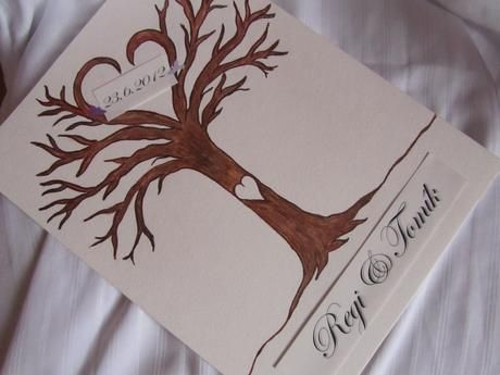svatební strom -2- ručně malovaný,