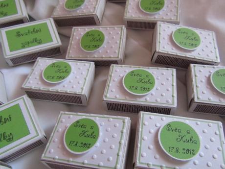 Svatební zápalky na přání- zelené,