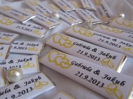 Svatební žvýkačky, dle vašeho přání žluté,