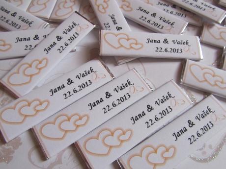 svatební žvýkačky na svatební stůl- dle přání,