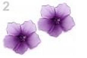 Kvetinky na zatvárací špendlík Ø 7 cm,