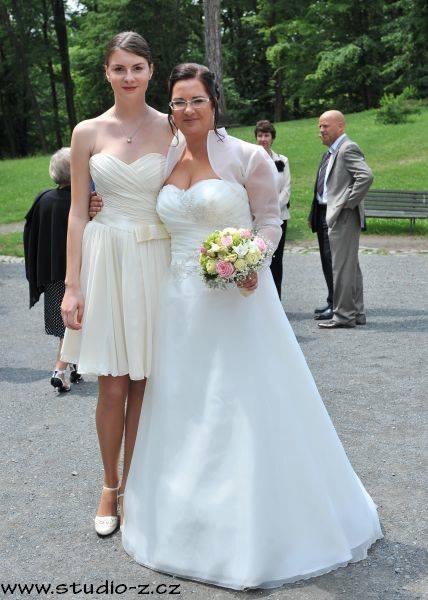 Svatební šaty vel 42-44, 42
