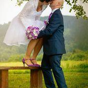 fialové svatební boty, 40