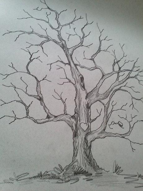 svatební strom ručně malovaný,