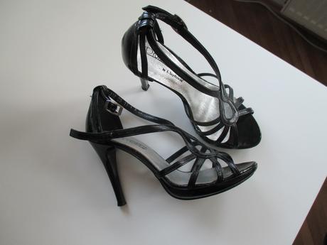 Čierne elegantné sandálky na platforme, 36