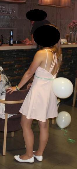 Lososové letní krátké šaty, M