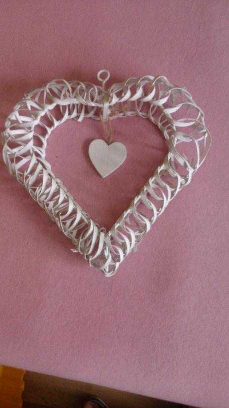 Svatební srdce - dekorace na stůl,