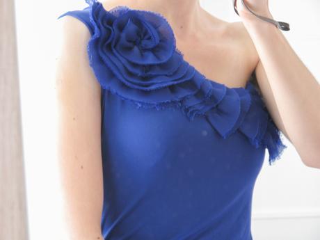 Elegantní šaty uhrančivě modré barvy , 37
