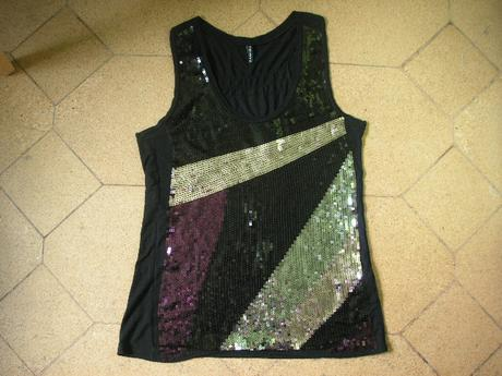 tričko s flitrami, M