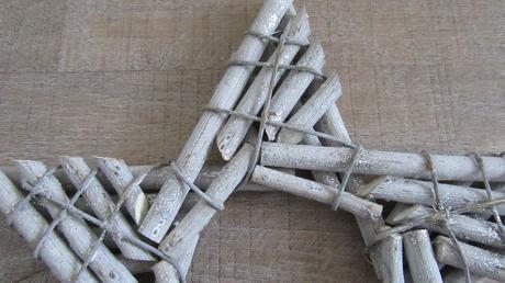 vianočná dekorácia - hviezda z dreva,