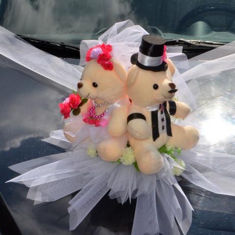 Dekorace na auto Medvídci sleva,