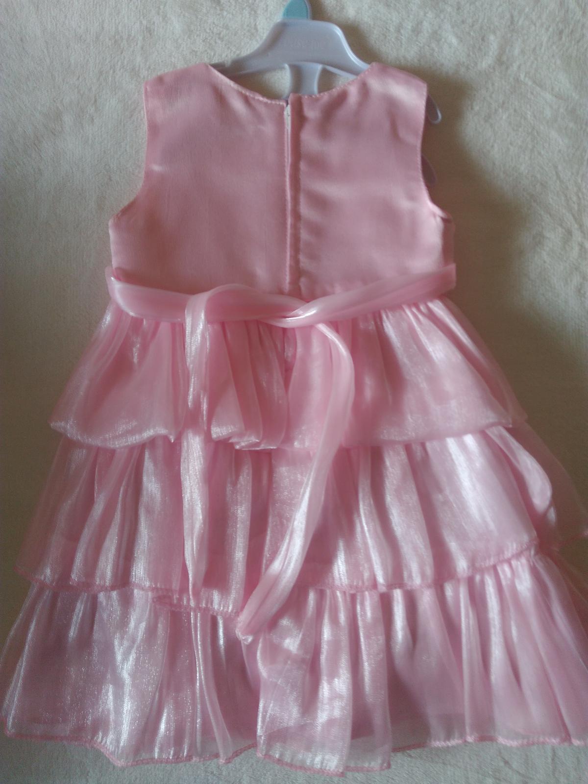 Růžové šaty s bolerkem vel. 86 92. 4606a3ddaf