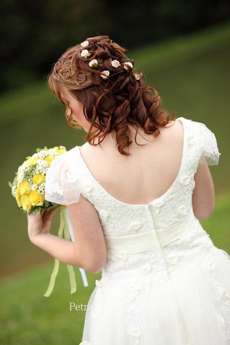 Překrásné svatebky vel. 36/38 na výšku 160 cm, 36