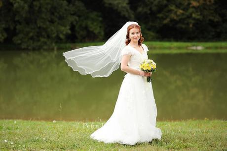 Romantické svatebky na postavu kolem 160 cm, 38