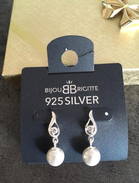 Stříbrné náušnice s perličkou Bijou Brigitte,
